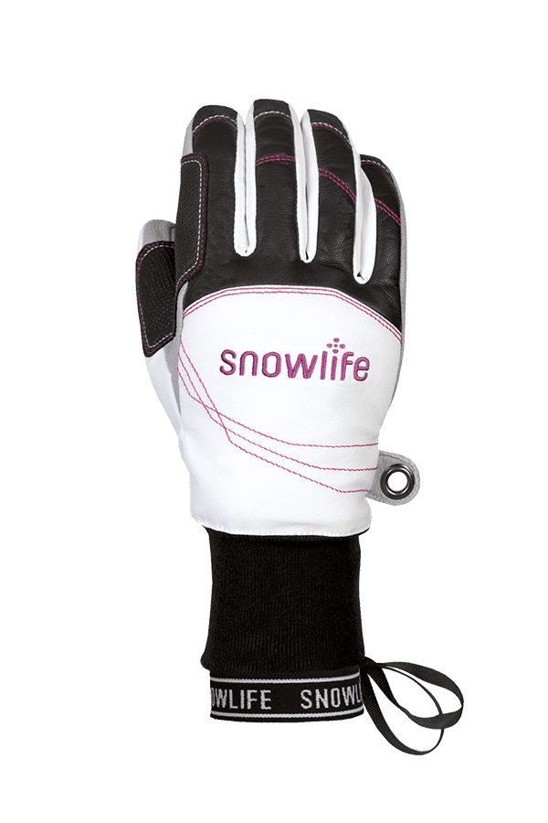 Winter- und Ski-Handschuh mit Dry-Tec Membrane, Glove, weiss, fuchsia