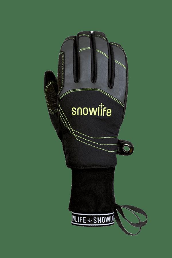 Winter- und Ski-Handschuh mit Dry-Tec Membrane, Glove, schwarz, lime