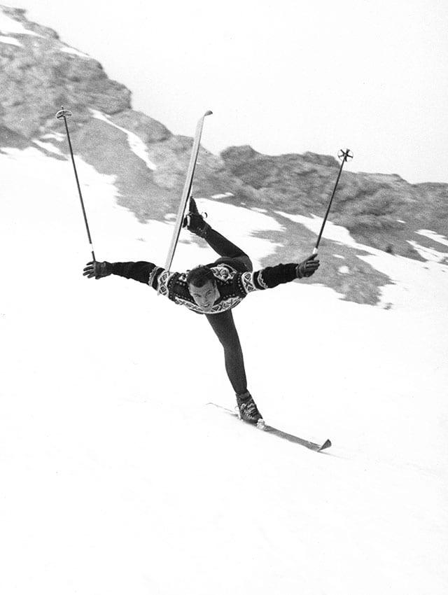 Skiakrobatik mit Nando