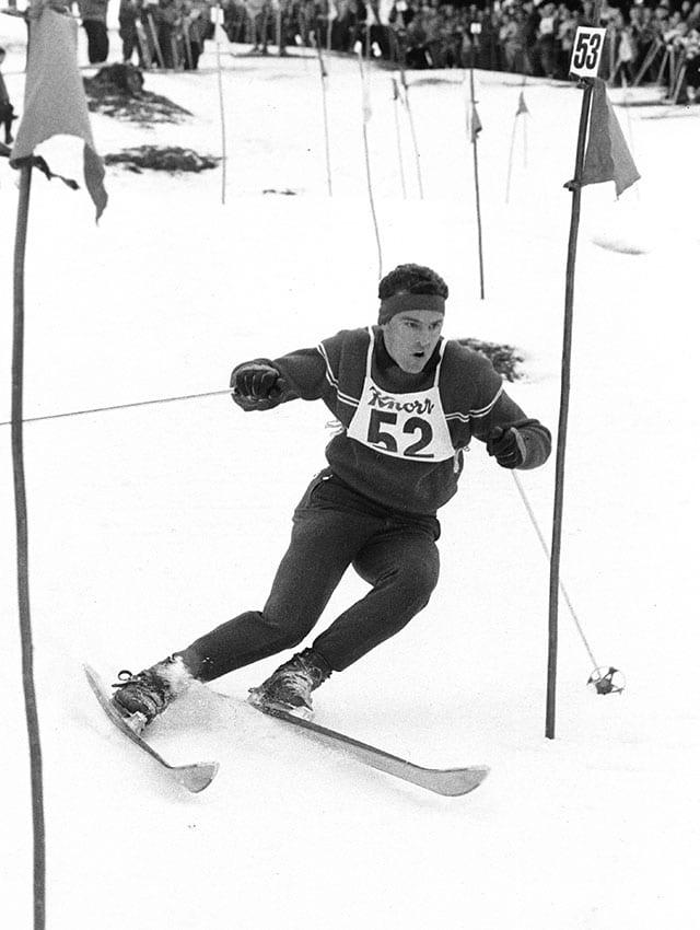 Nando an einem Skirennen