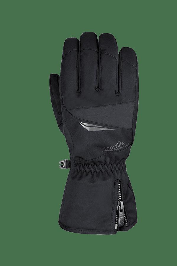schwarzer Winter- und Ski-Handschuh für aktive Skifahrer mit Dry-Tec Membrane