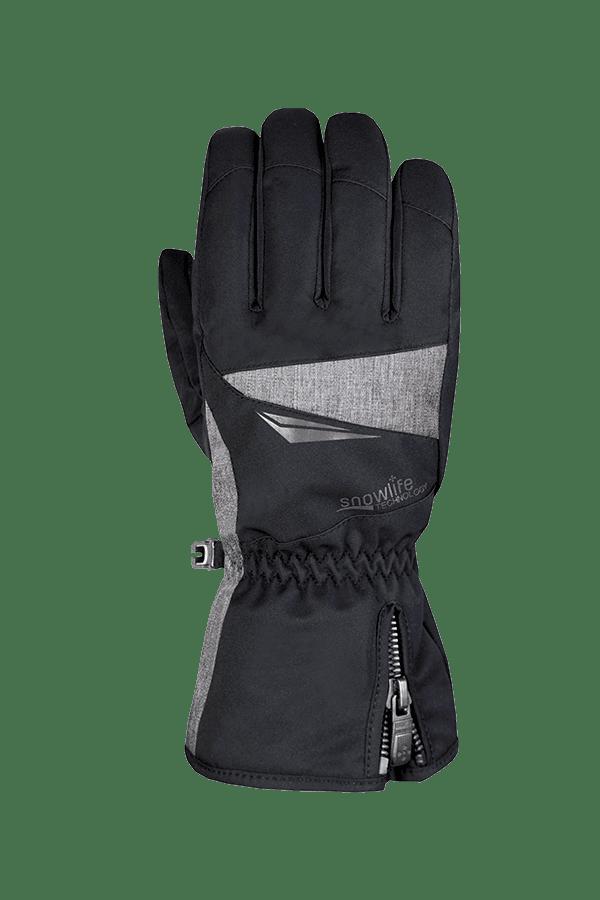 Apex DT Glove, schwarz-grauer Ski- und Winterhandschuh für aktive Skifahrer, Ansicht Handrücken