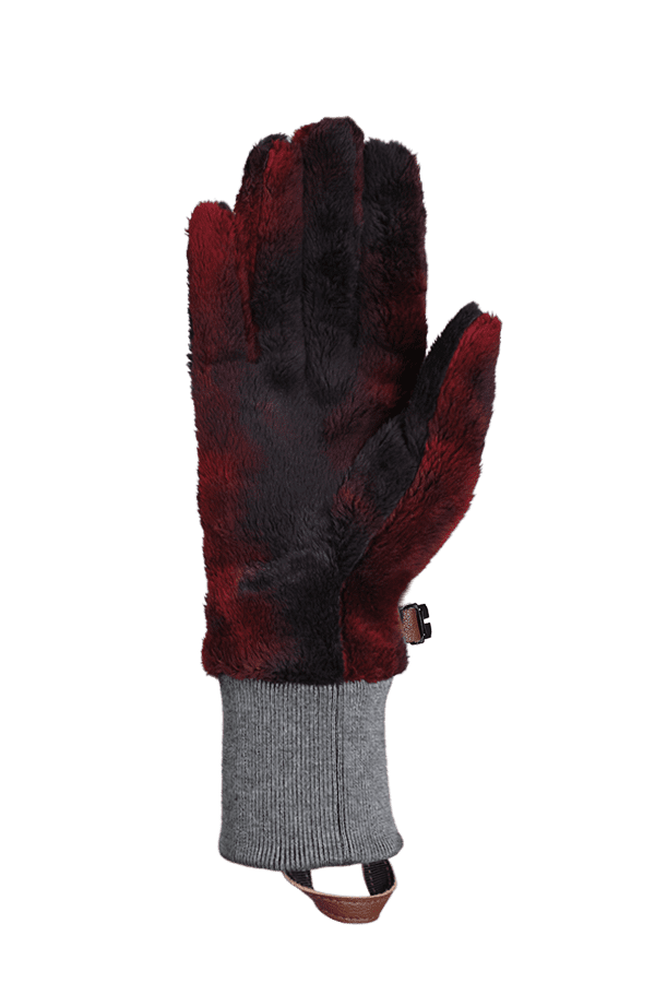 Winter- und City-Handschuh aus High Pile Fleece, Glove, fuchsia