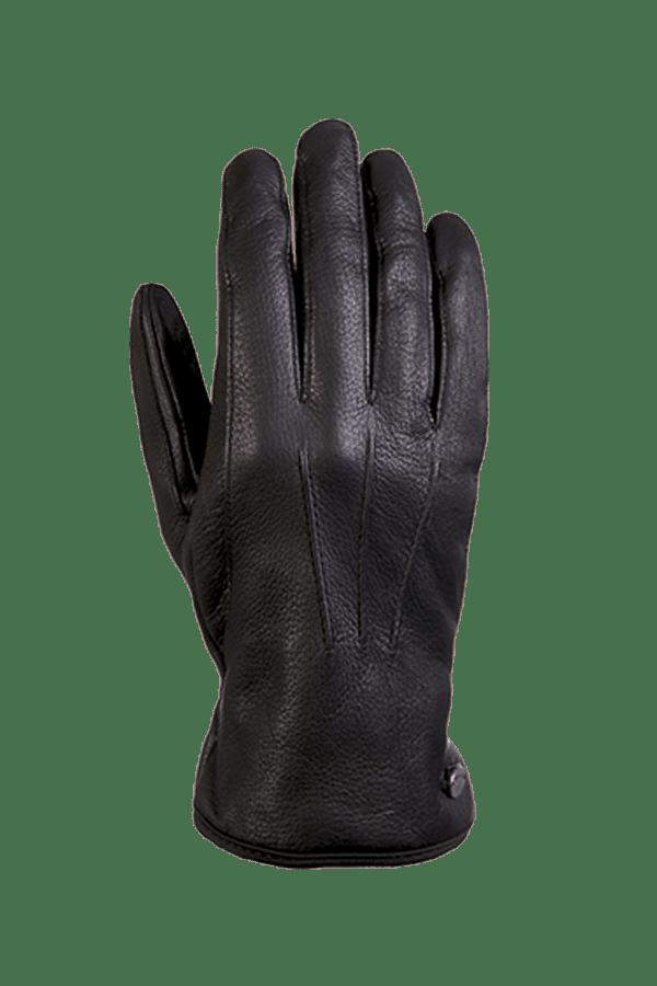 ein echter und sehr geschmeidiger Hirschleder Handschuh in der Farbe schwarz