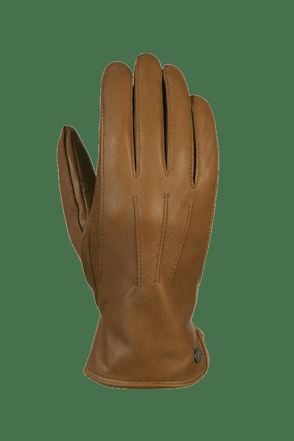 ein echter und sehr geschmeidiger Hirschleder Handschuh in der Farbe braun