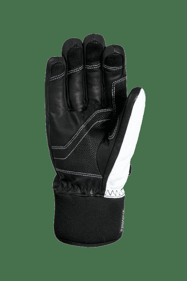 Winter- und Ski-Handschuh, Glove, schwarz, weiss, rot