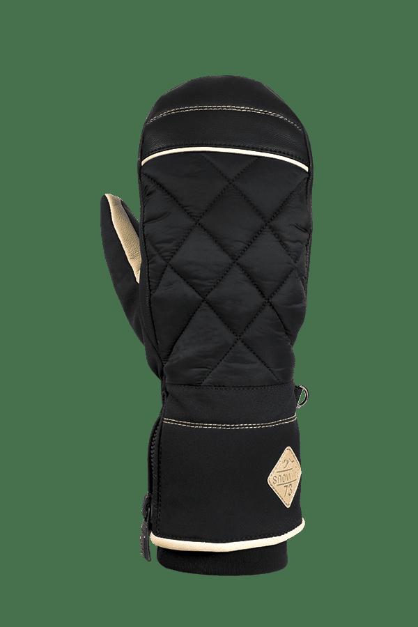 Winter- und Ski-Handschuh, Fäustlinge, Glove, Primaloft, schwarz, beige