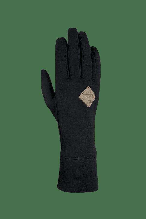 Winter- und Ski-Handschuh, Innenhandschuh, Glove, Primaloft, schwarz, beige