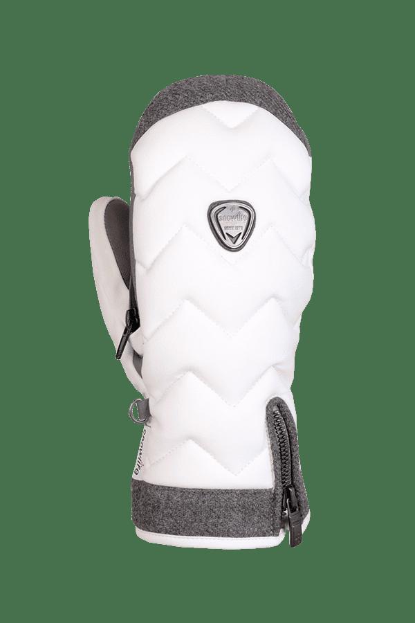 Winter- und Ski-Handschuh, Fäustlinge, Glove, beheizbar, Primaloft, weiss