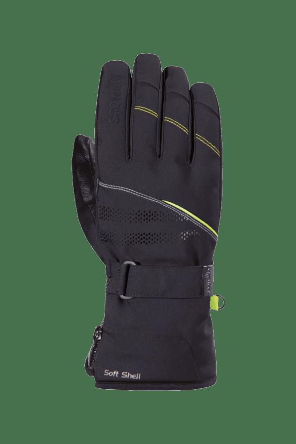 Winter- und Ski-Handschuh, Glove, schwarz, gelb