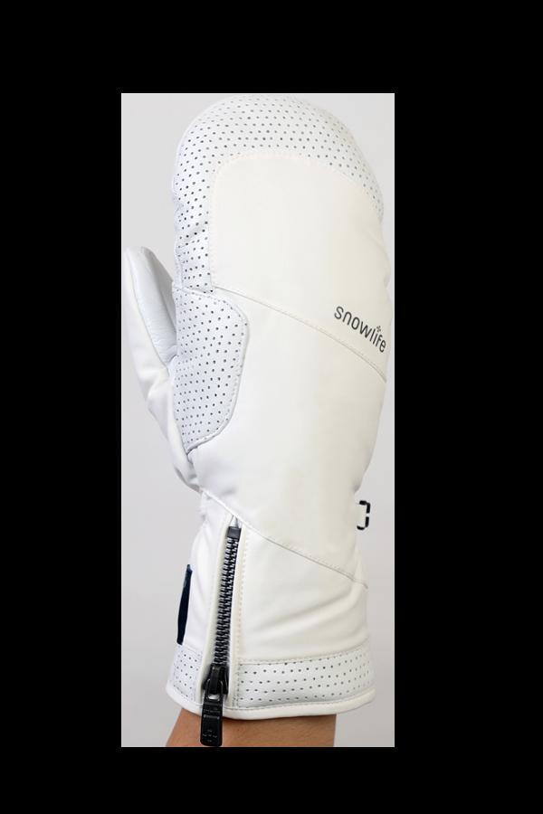 Ovis GTX Mitten, Fausthandschuh, edel Handschuh, hohe Qualität, mit Gore-Tex Membran, weiss