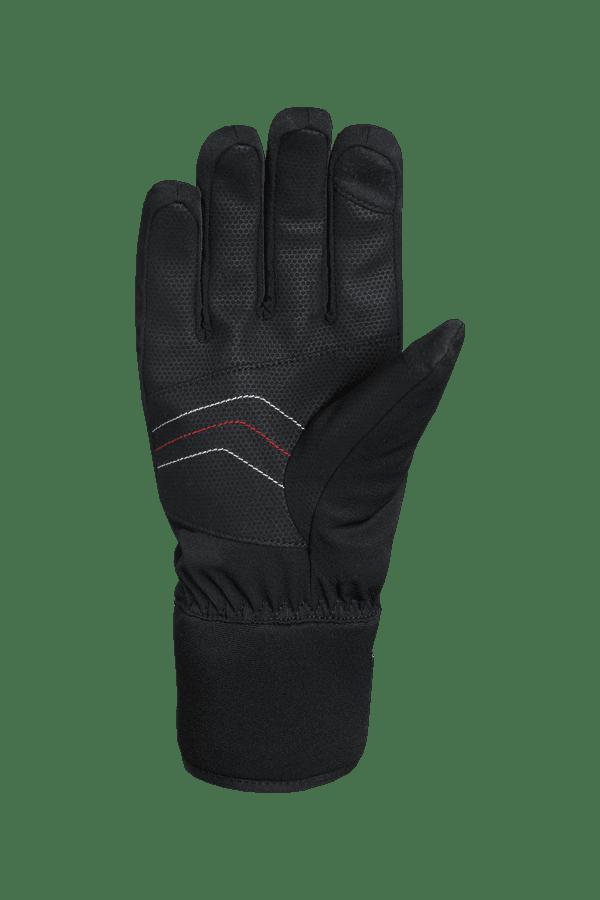 Winter- und Ski-Handschuh, Glove, schwarz, rot, weiss