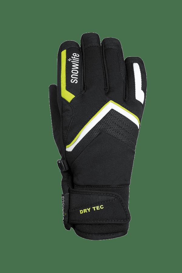 Winter- und Ski-Handschuh, Glove schwarz, gelb, weiss