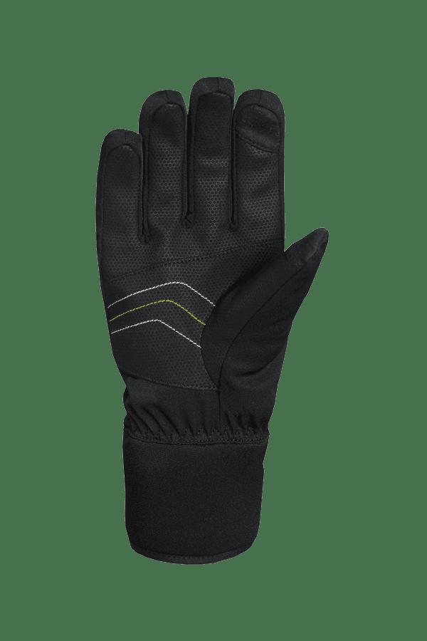 Winter- und Ski-Handschuh, Glove, schwarz, gelb, weiss