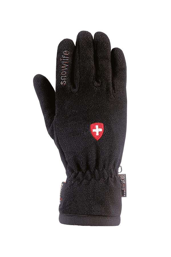 Winter- und City-Handschuh aus Fleece, Glove, schwarz swiss