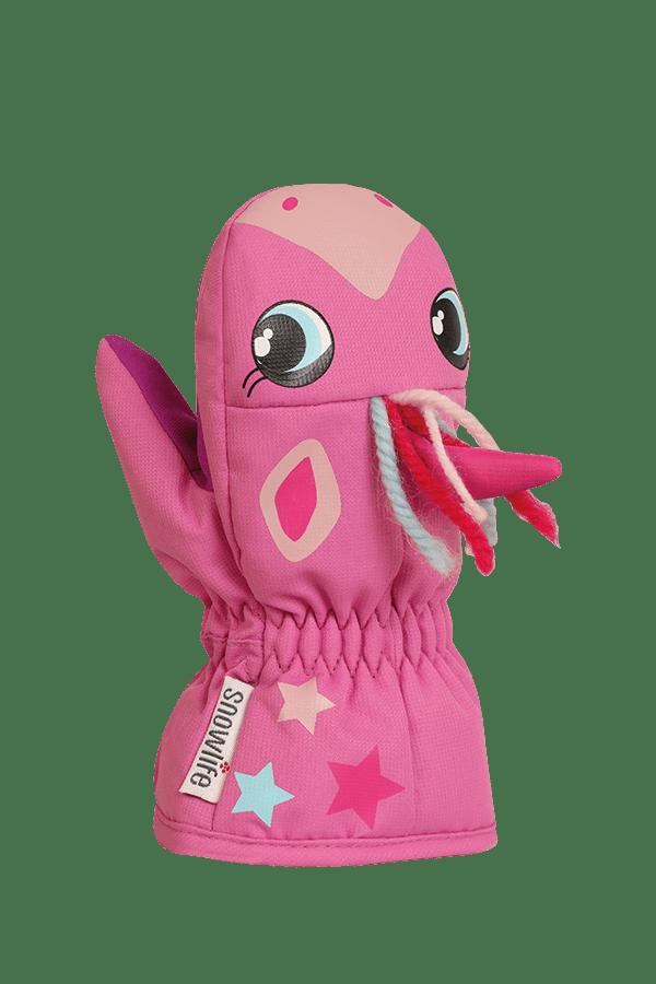Baby Animal Mitten, warme Baby Fausthandschuhe im Tierdesign Einhorn, Farbe pink