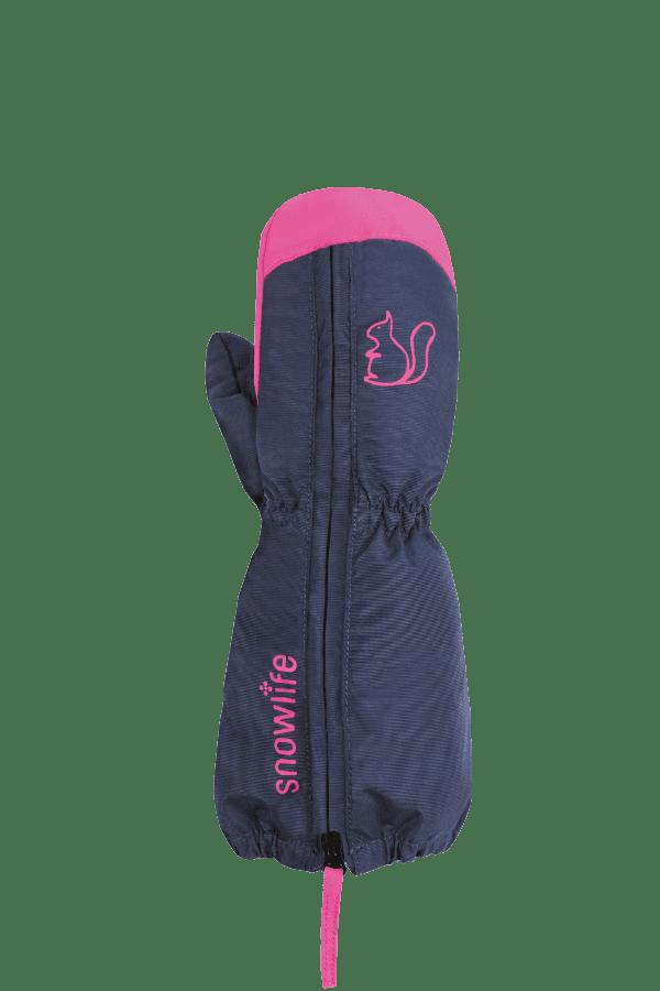 Baby Winter- und Ski-Handschuh, Fäustlinge, Glove, navy, pink