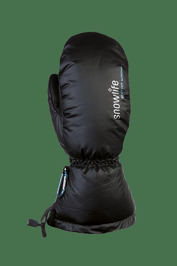 schwarzer Daunen Fausthandschuh, extrem warm mit Primaloft Isolation