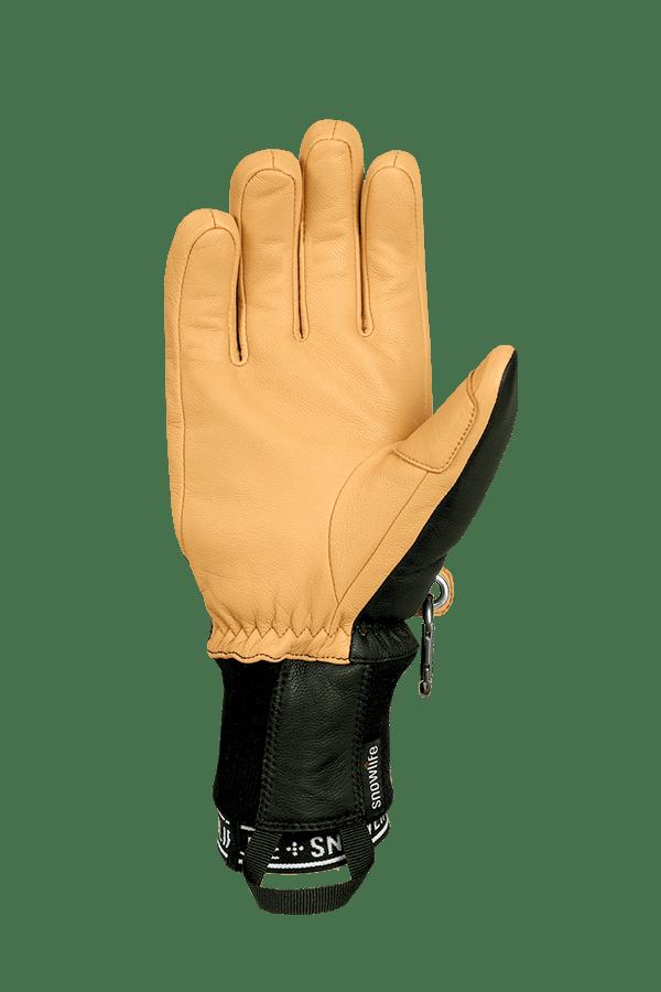 Winter- und Ski-Handschuh aus Leder und Lavalan Wolle, Glove, charcoal/dk nomad