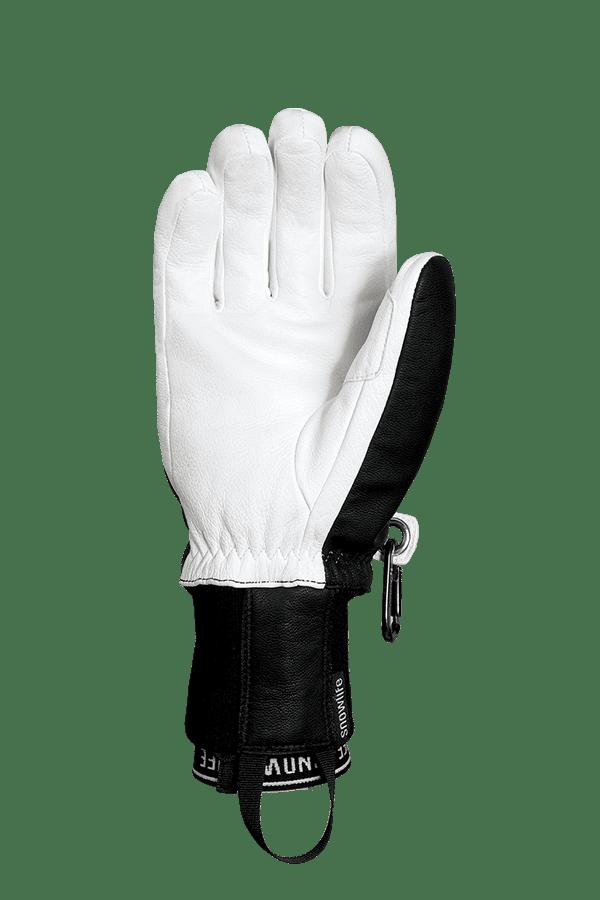 Winter- und Ski-Handschuh aus Leder und Lavalan Wolle, Glove, black, white