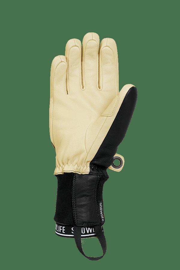 Winter- und Ski-Handschuh aus Leder und Lavalan Wolle, Glove, burgundy/beige