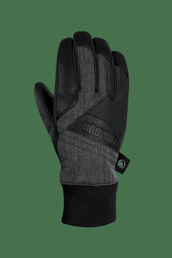 Cruise DT Glove, der Freeride Handschuh aus einem Textil und Leder-Mix in den Farben grau und schwarz, Ansicht Rückhand