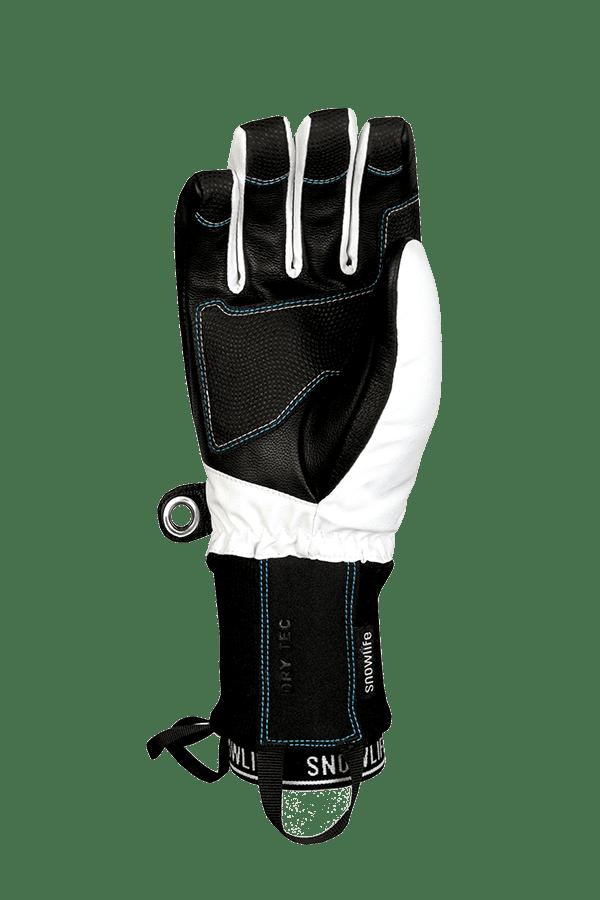 Winter- und Ski-Handschuh mit Dry-Tec Membrane, Glove, weiss, türkis