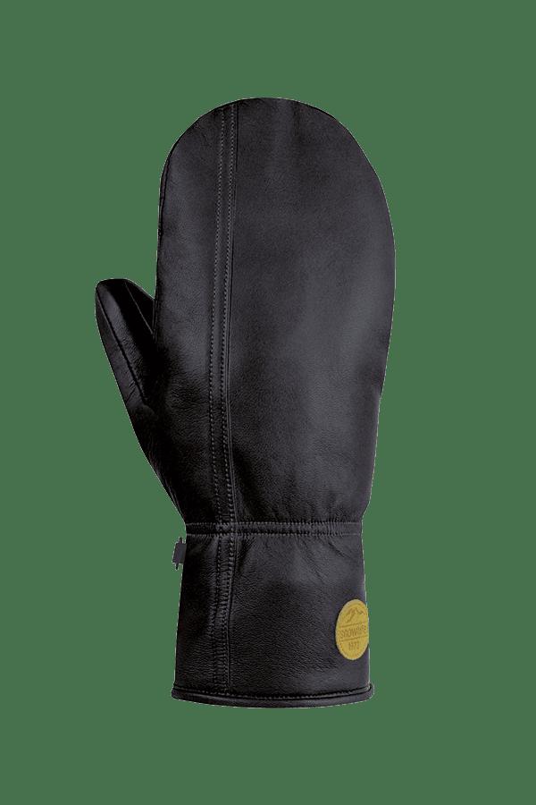 Winter- und Ski-Handschuh aus Leder, Glove, , schwarz