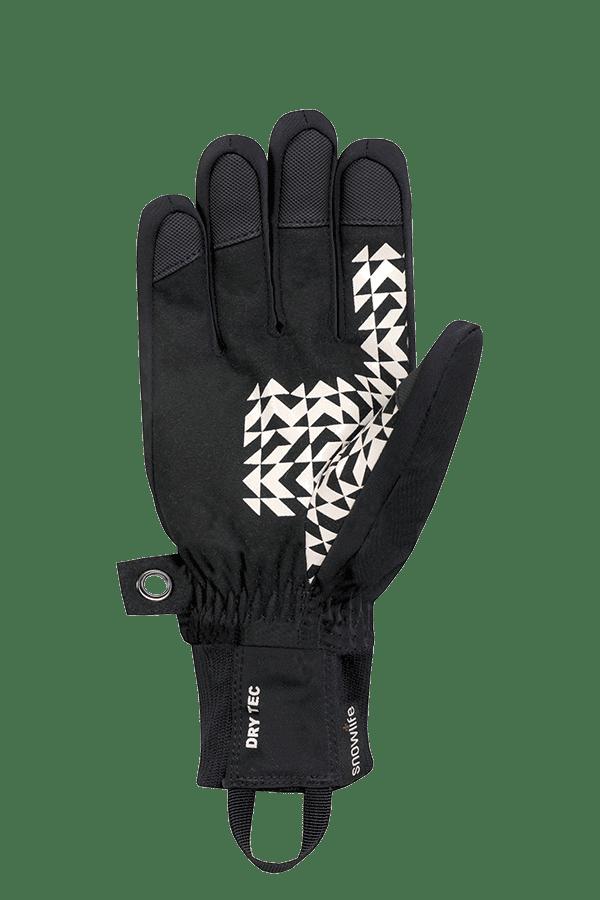 Winter- und Ski-Handschuh, Glove, grau, beige, blau