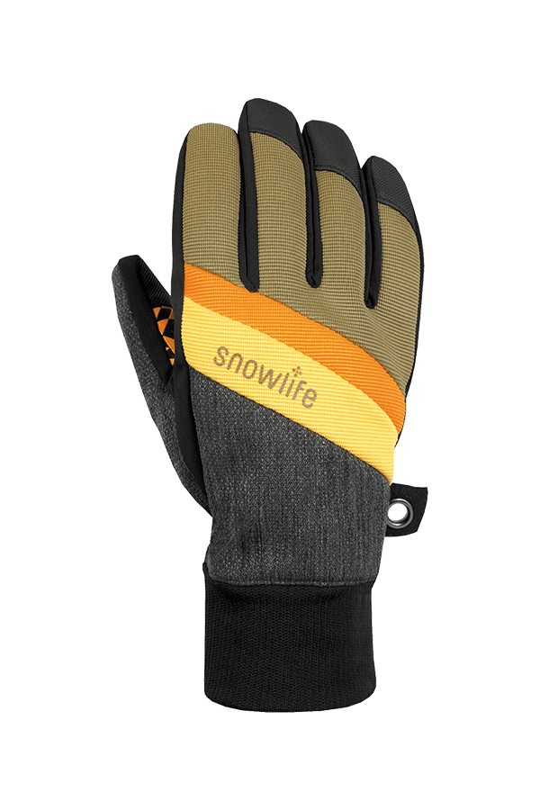 Winter- und Ski-Handschuh, Glove, orange, grau