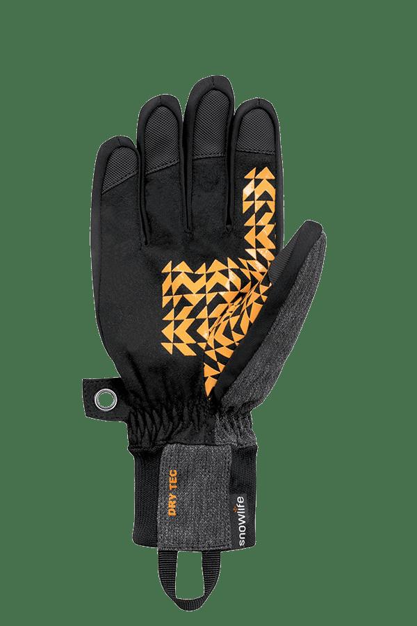 Winter- und Ski-Handschuh, Glove, orange, grau