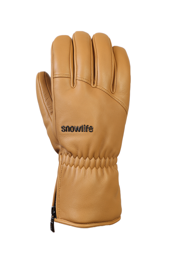 Grand Soft Glove, for men, real leather, warm, camel