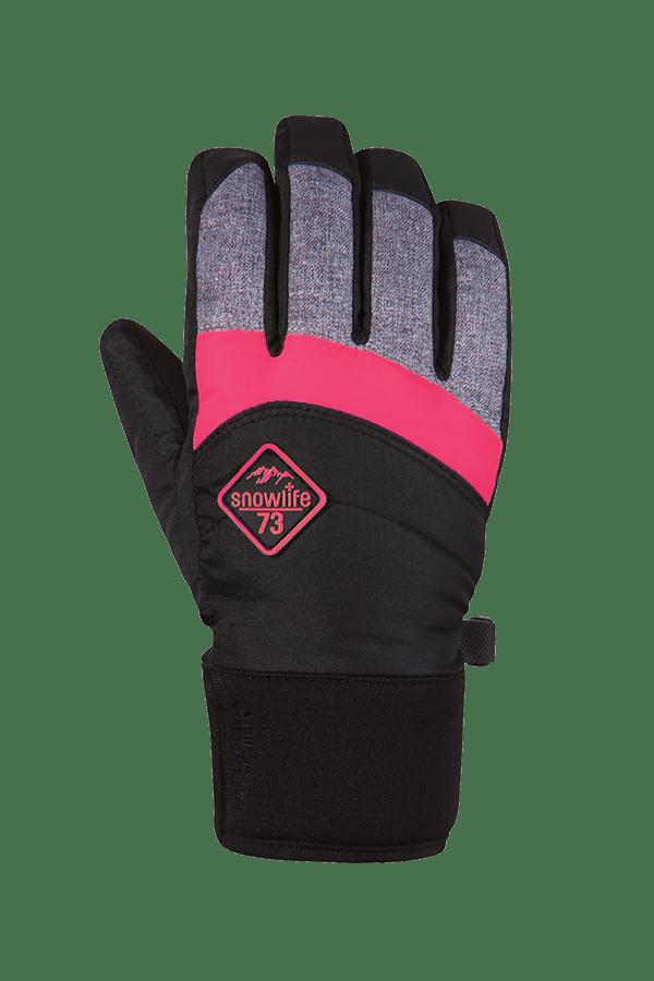 Winter- und Ski-Handschuh mit Gore-Tex Membrane, Glove, schwarz, grau, neonpink
