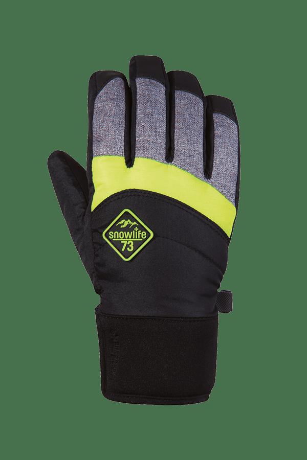 Winter- und Ski-Handschuh mit Gore-Tex Membrane, Glove, schwarz, grau, neongelb