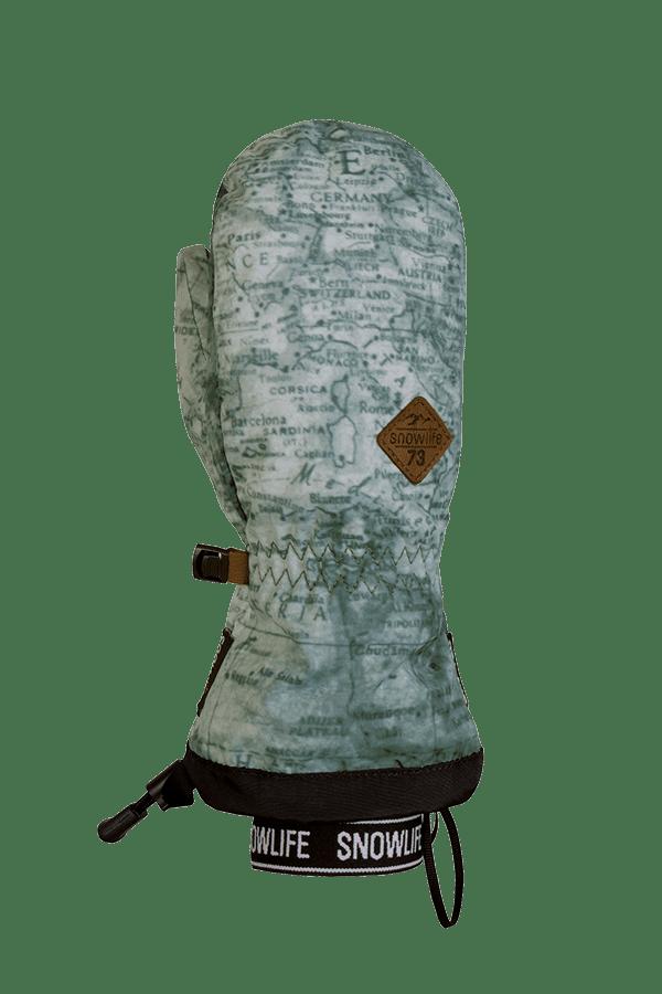 Winter- und Ski-Handschuh mit Dry-Tec, Fäustling, Glove,grey multi