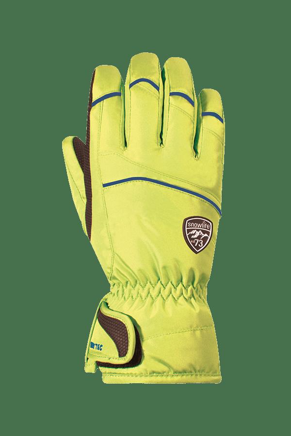 Winter- und Ski-Handschuh mit Dry-Tec, Glove, lime