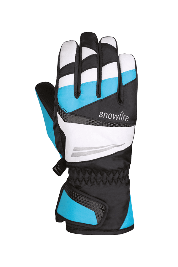 Winter- und Ski-Handschuh mit Dry-Tec, Glove, schwarz, türkis