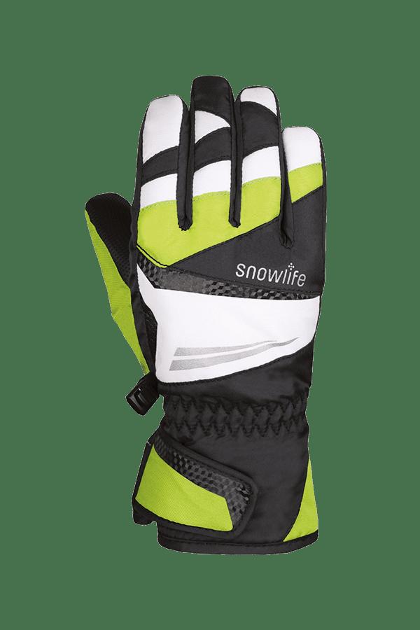Winter- und Ski-Handschuh mit Dry-Tec, Glove, schwarz, lime