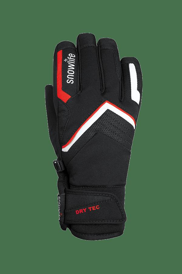 Winter- und Ski-Handschuh mit Dry-Tec Membrane, Glove, schwarz, rot, weiss