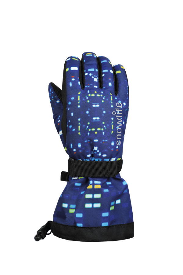 Kinder Winter- und Ski-Handschuh mit Dry-Tec Membrane, Glove, colored lights