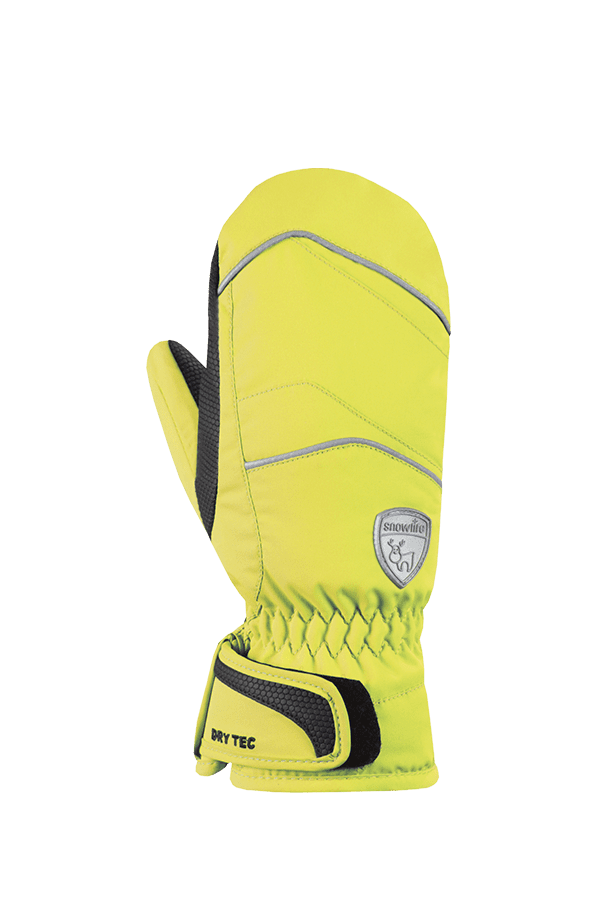 Kinder Winter- und Ski-Handschuh mit Dry-Tec Membrane, Fäustlinge, Glove, lime