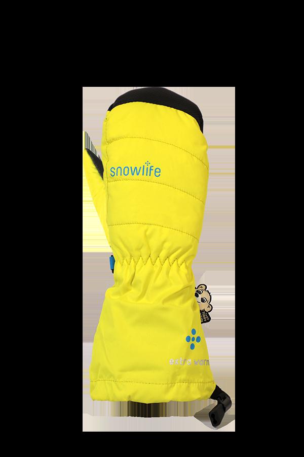 Kinder Winter- und Ski-Handschuh, Fäustlinge, Glove, neonyellow
