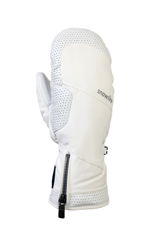 Ovis GTX Mitten, Moufles, gant noble, haute qualité, avec membrane Gore-Tex, blanc