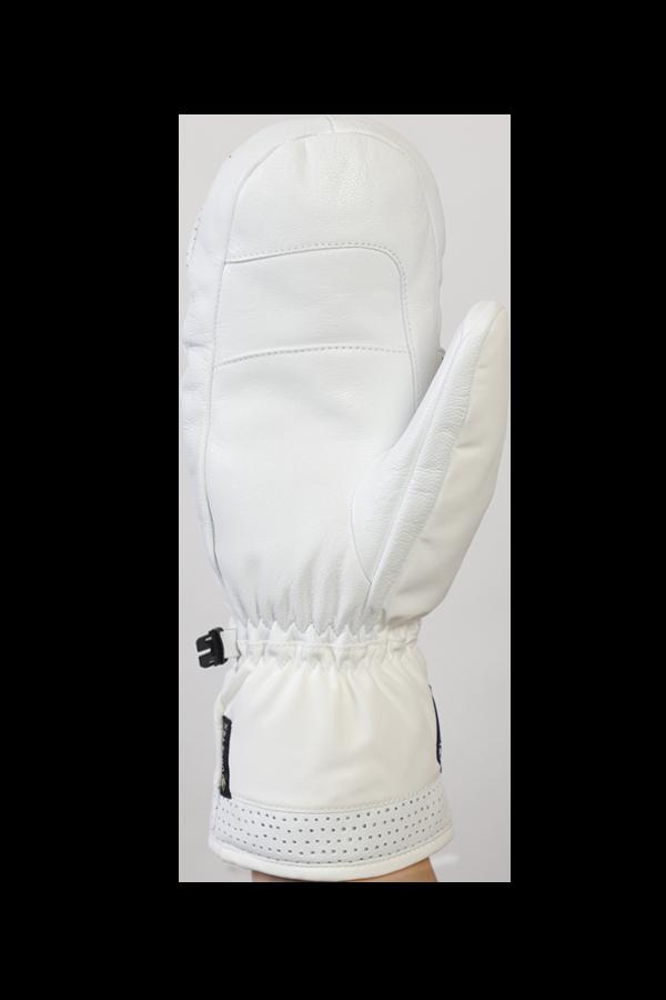 Ovis GTX Mitten, Mitten Glove, noble glove, high quality, with Gore-Tex membrane, white