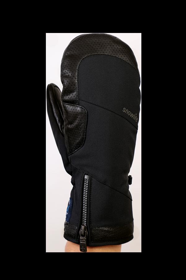 Ovis GTX Mitten, Moufles, gant noble, haute qualité, avec membrane Gore-Tex, noir