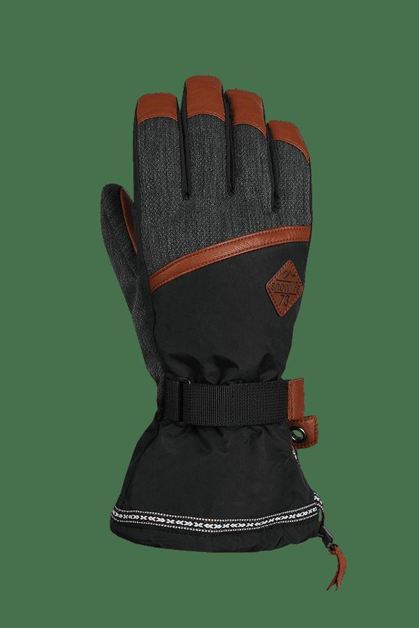 Winter- und Ski-Handschuh mit Dry-Tec, Glove, schwarz, grau, braun