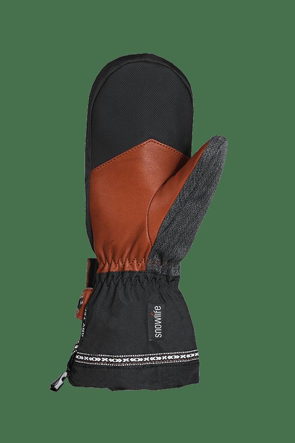 Winter- und Ski-Handschuh, Fäustlinge mit Dry-Tec, Glove, schwarz, grau, braun