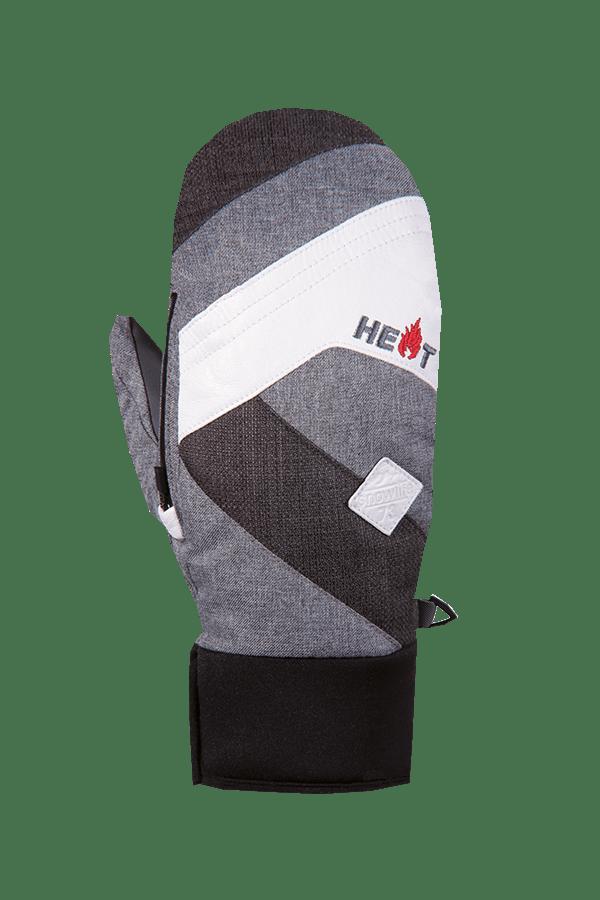 Winter- und Ski-Handschuh, Fäustlinge, Glove, beheizbar, grau, weiss