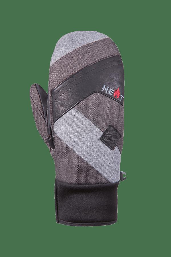 Winter- und Ski-Handschuh, Fäustlinge, Glove, beheizbar, dunkel grau, schwarz