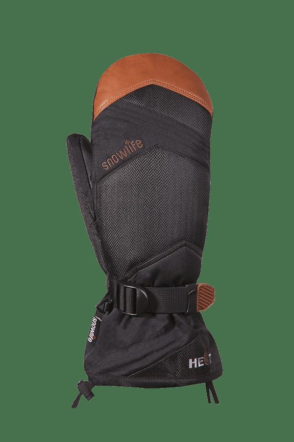 Winter- und Ski-Handschuh, Fäustlinge, Glove, beheizbar, schwarz, camel